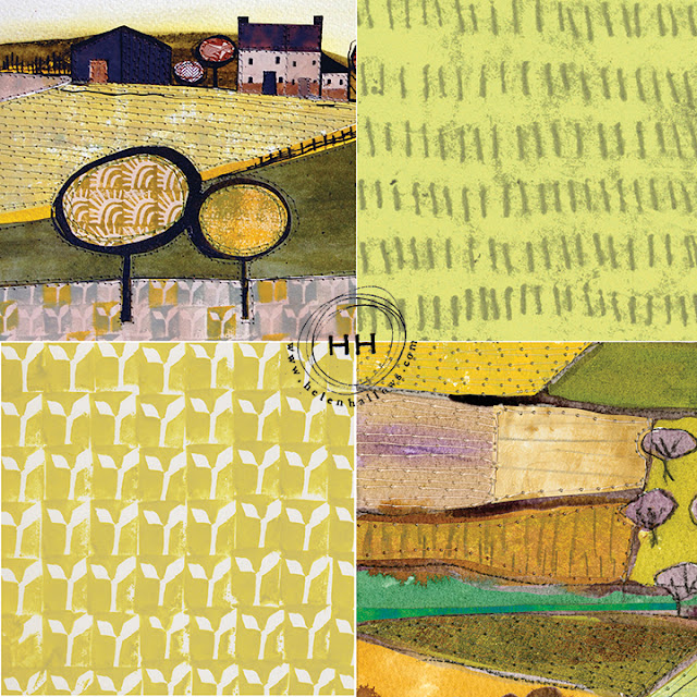 Helen Hallows, Mixed Media Art, Pattern Design, Sketchbook Conversations