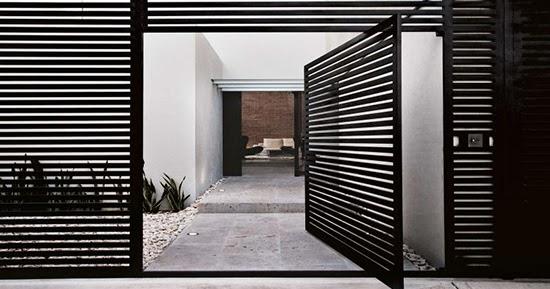 16 Inspirasi desain pagar besi bergaya minimalis  1000 Inspirasi Desain Arsitektur Teknologi