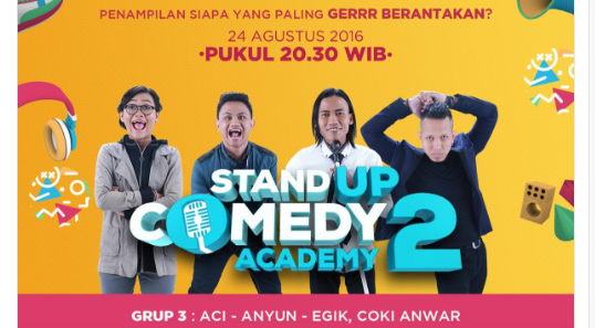 Peserta Stand Up Comedy Academy 2 yang Gantung Mik Tgl 24 Agustus 2016