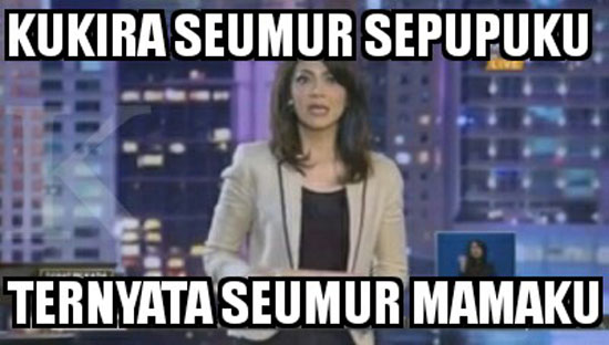 Meme Lucu Ira Koesno Saat Debat Pilgub