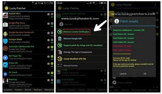 تحميل Lucky Patcher لتهكير الالعاب و التطبيقات اخر اصدار 2018