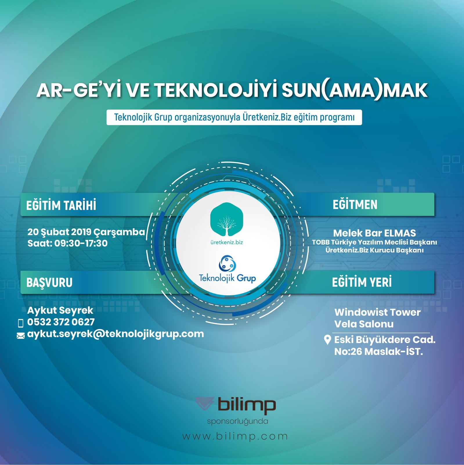 Ar-Ge'yi ve Teknolojiyi Sun(ama)mak (1 GÜN)