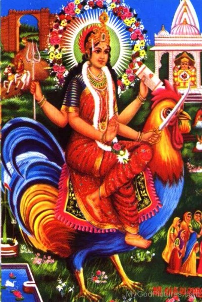 Hindu Goddess buchara mata pic