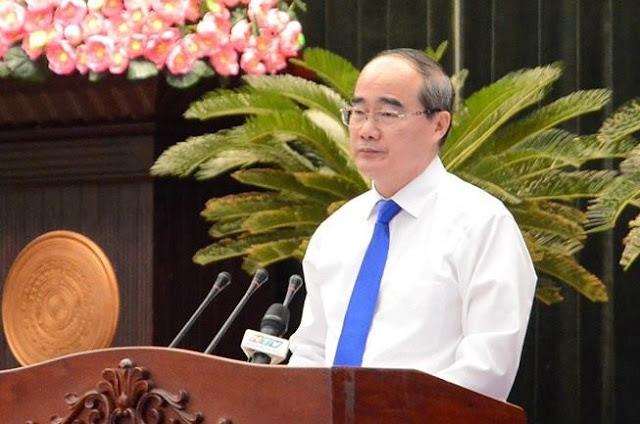 Hình ảnh Bí thư thành uỷ TP. Hồ Chí Minh Nguyễn Thiện Nhân