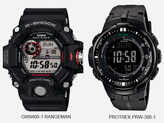 Perbedaan antara Casio G-Shock dan Protrek
