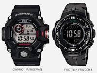 Perbedaan Antara Jam Tangan Casio G-Shock dan Protrek