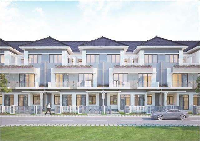 Cho thuê nhà phố Merita Khang Điền Dãy D đầy đủ nội thất