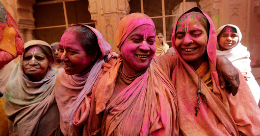 Indian widows colorfully break a 400-year-old tradition to celebrate the Holi Festival