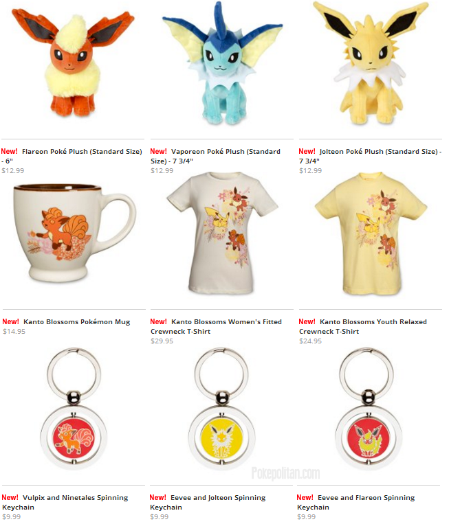 c743bb97 Some Vulpix and Eeveelution items have been added to the pokemoncenter.com!  There are several spinning keychains, clothing, plushies, and one very cute  mug.