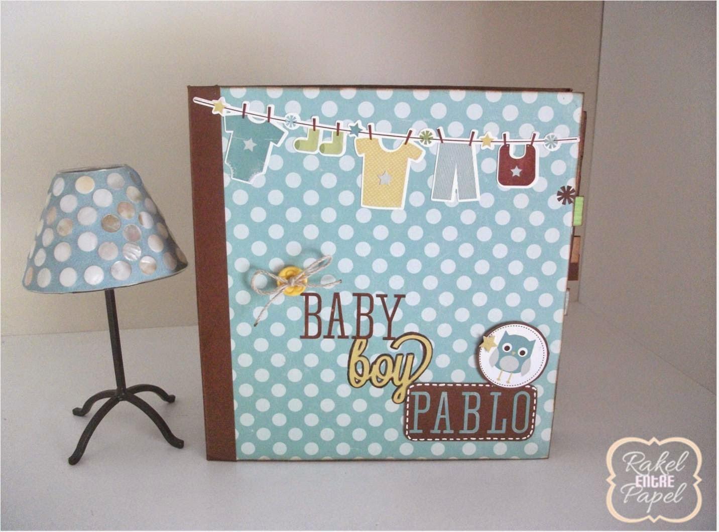 raquel entre papel mini album bebe para pablo. Black Bedroom Furniture Sets. Home Design Ideas