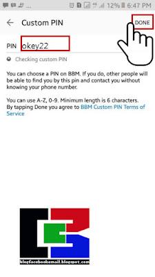 bagaimana cara merubah PIN BBM dengan karangan sendiri