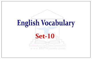 English Vocabulary Set-10 (with meaning and example)