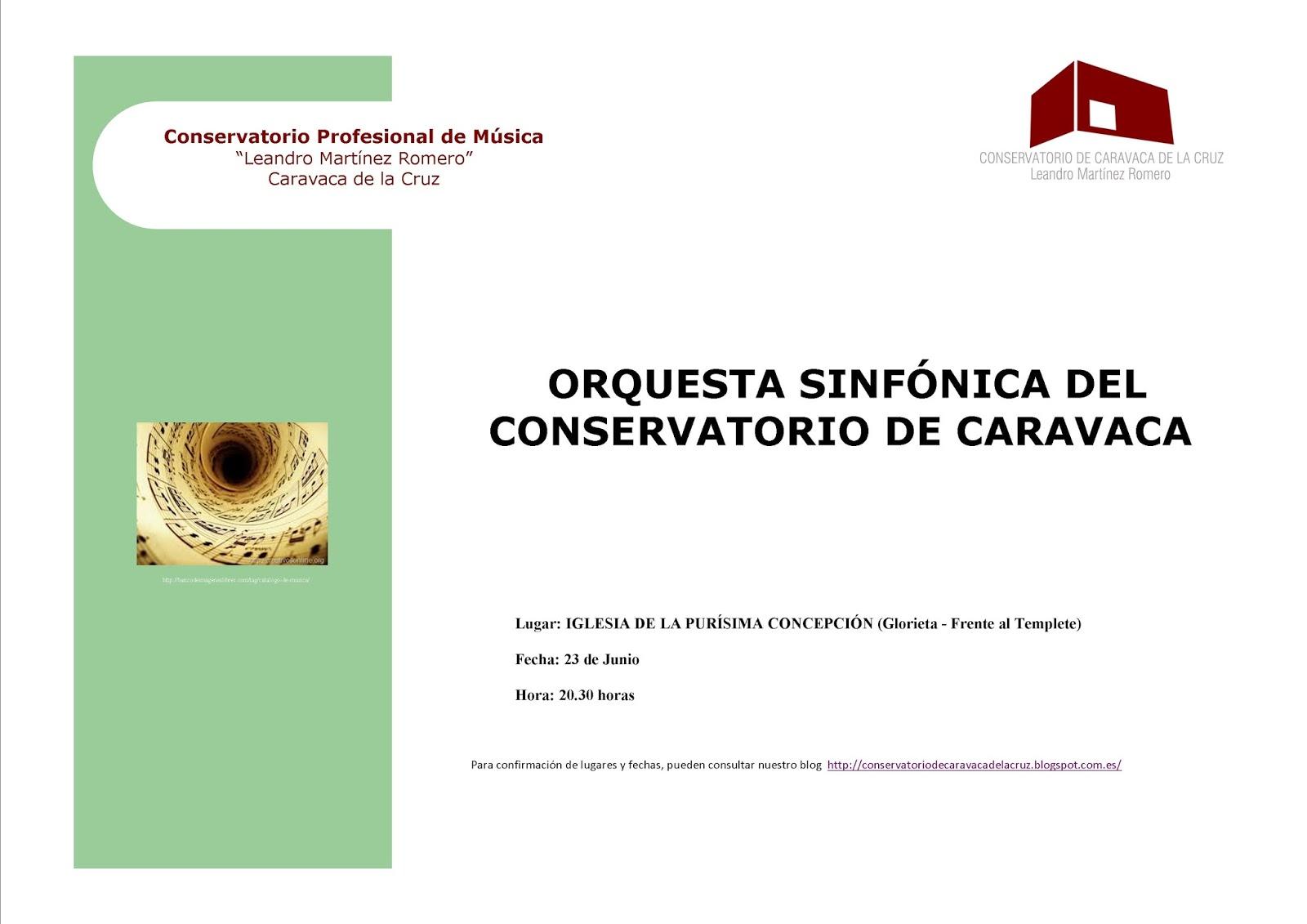 Conservatorio de m sica caravaca de la cruz actividades for Conservatorio de musica