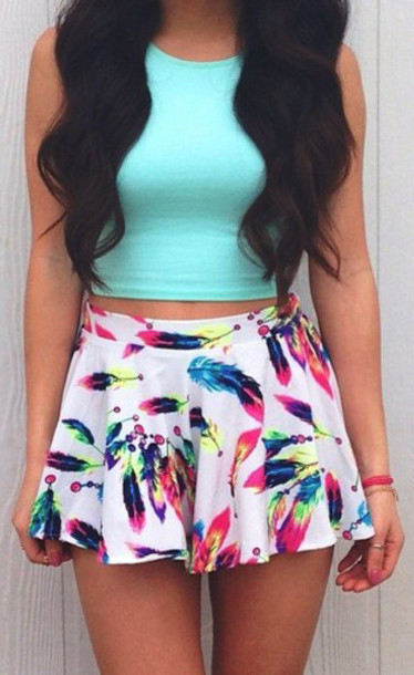 Summer Outfits For Girl To Try Skirt #SummerOutfits #Skirts