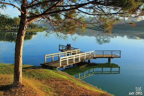 cảnh hồ đẹp ở Đà Lạt