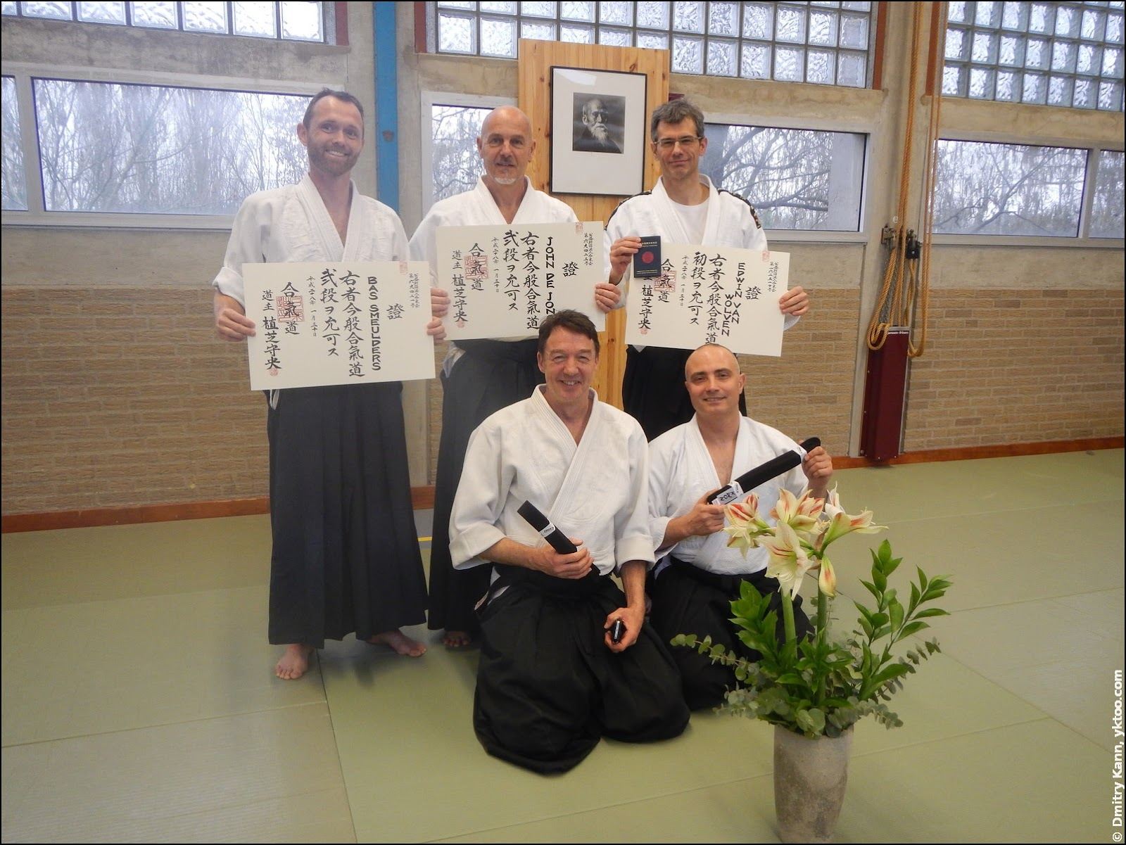 Left to right, top row: Bas Smeulders, John de Jong, Edwin van Wolven. Bottom row: Martijn Bakker and myself.