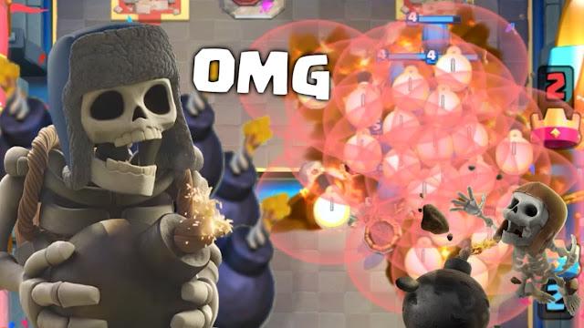 Maior explosão - Clash Royale