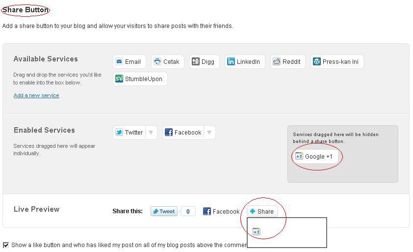 Cara Memasang Tombol Google +1 di WordPress