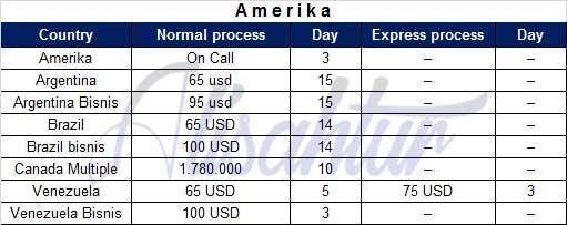Biaya Pengurusan VISA Amerika