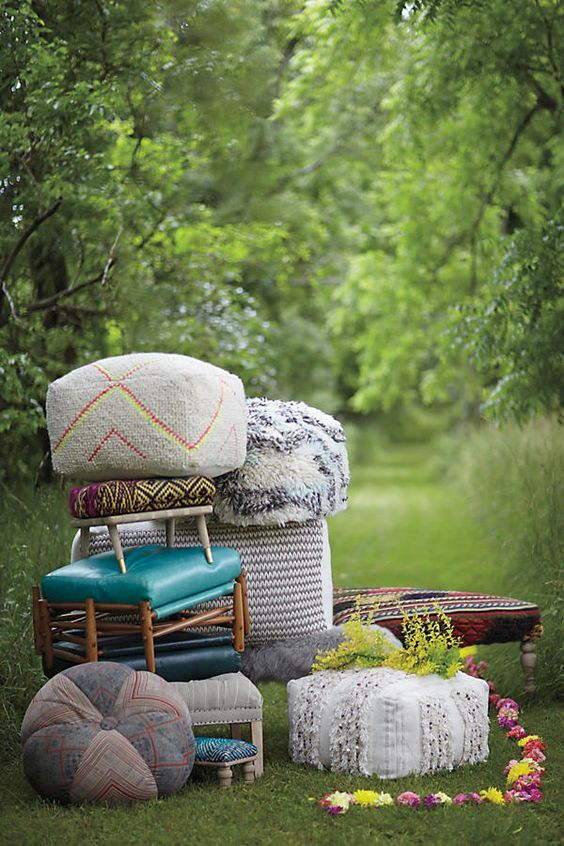 My Search for the Perfect Boho Pouf