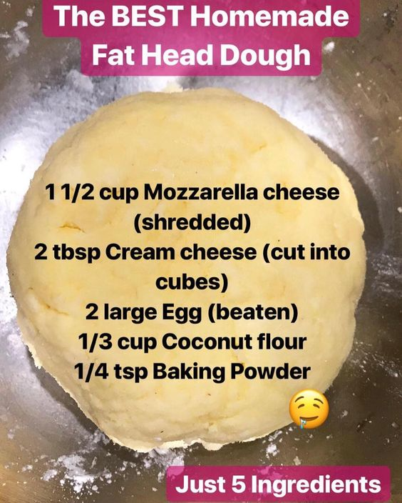 5 ingredients homemade fat head dough