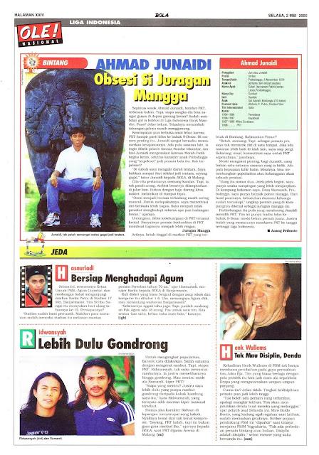LIGA INDONESIA PROFIL BINTANG AHMAD JUNAIDI
