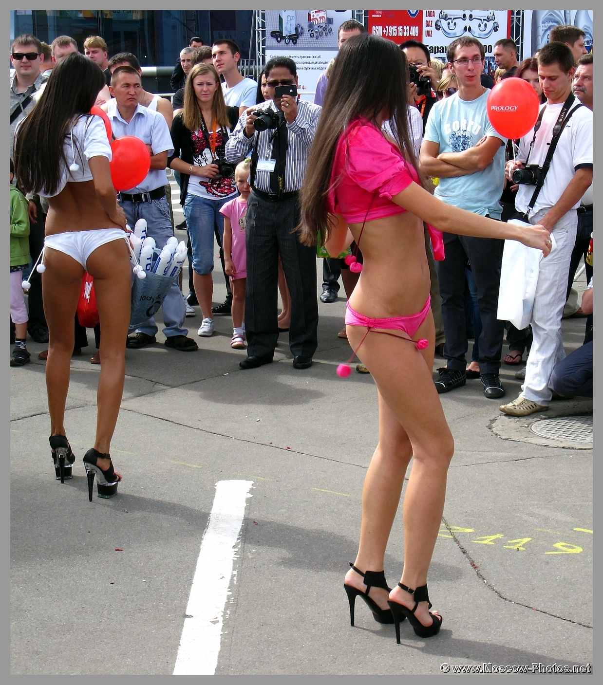 Girls Dancing at Open Air in Moscow