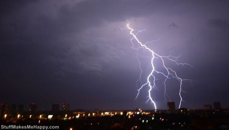 9. At different points of the Earth, lightning makes about 6 strokes