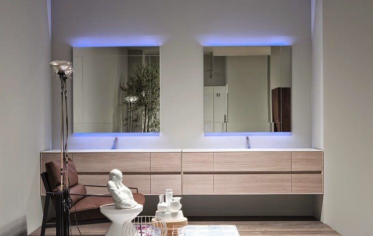 bathroom mirrors with lights: eye catcher decorative element