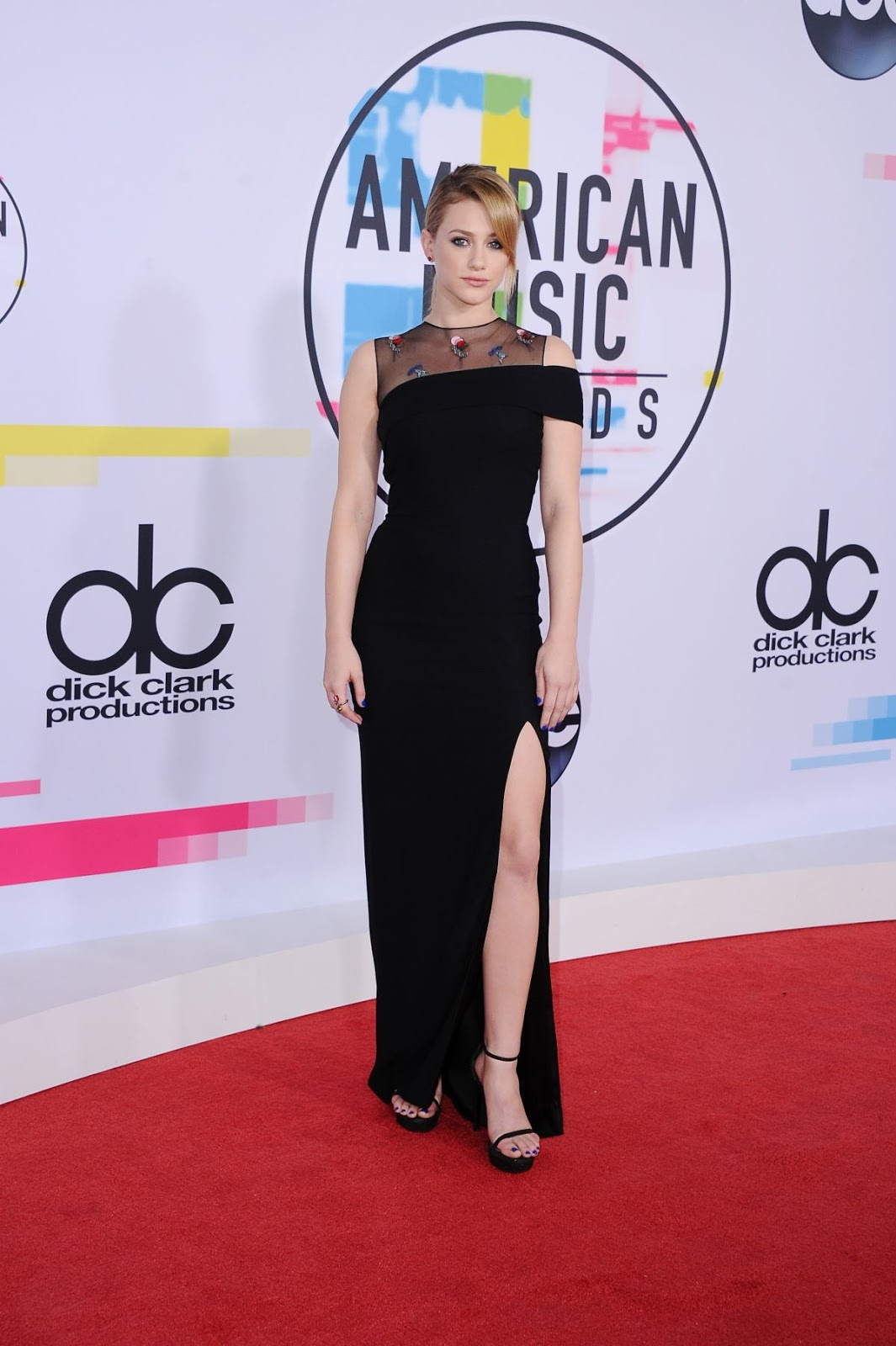 Photos of TV Actress Lili Reinhart at American Music Awards 2017 at Microsoft Theater in Los Angeles