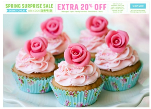 Groupon Spring Surprise Sale Extra 20% Off Promo Code