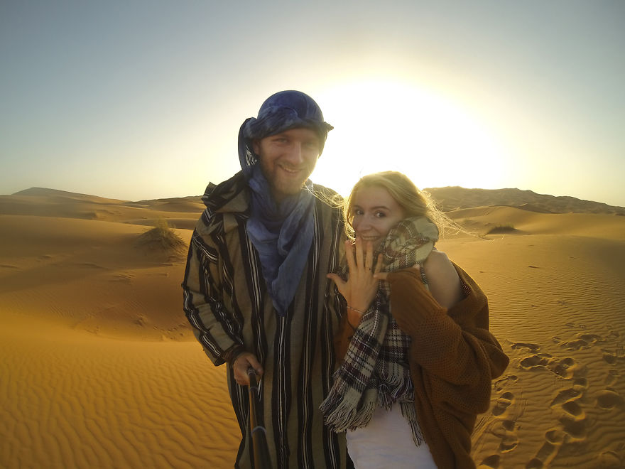 Finally, we got engaged in the Sahara desert - We Visited Over 50 Countries With Our Van Spending Only $8 A Day