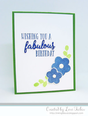 Wishing You a Fabulous Birthday card-designed by Lori Tecler/Inking Aloud-stamps and dies from Reverse Confetti