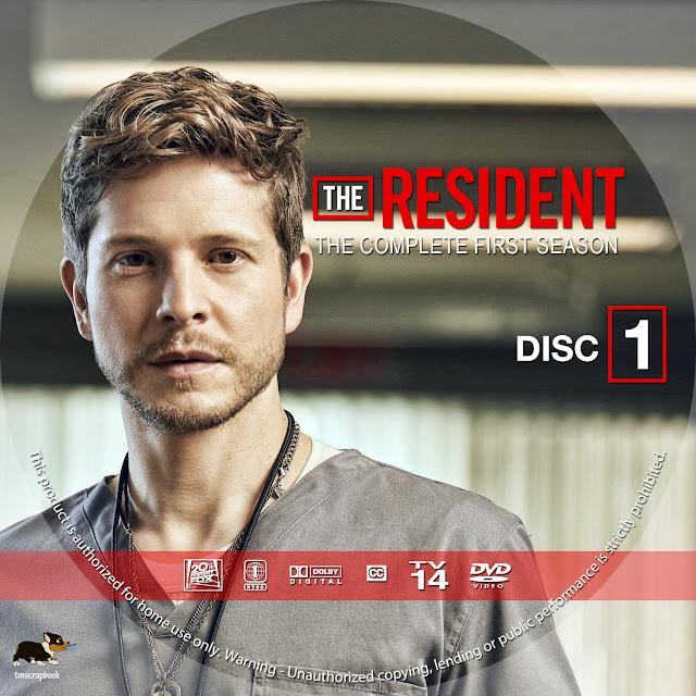 The Resident Season 1 Disc 1 DVD Label