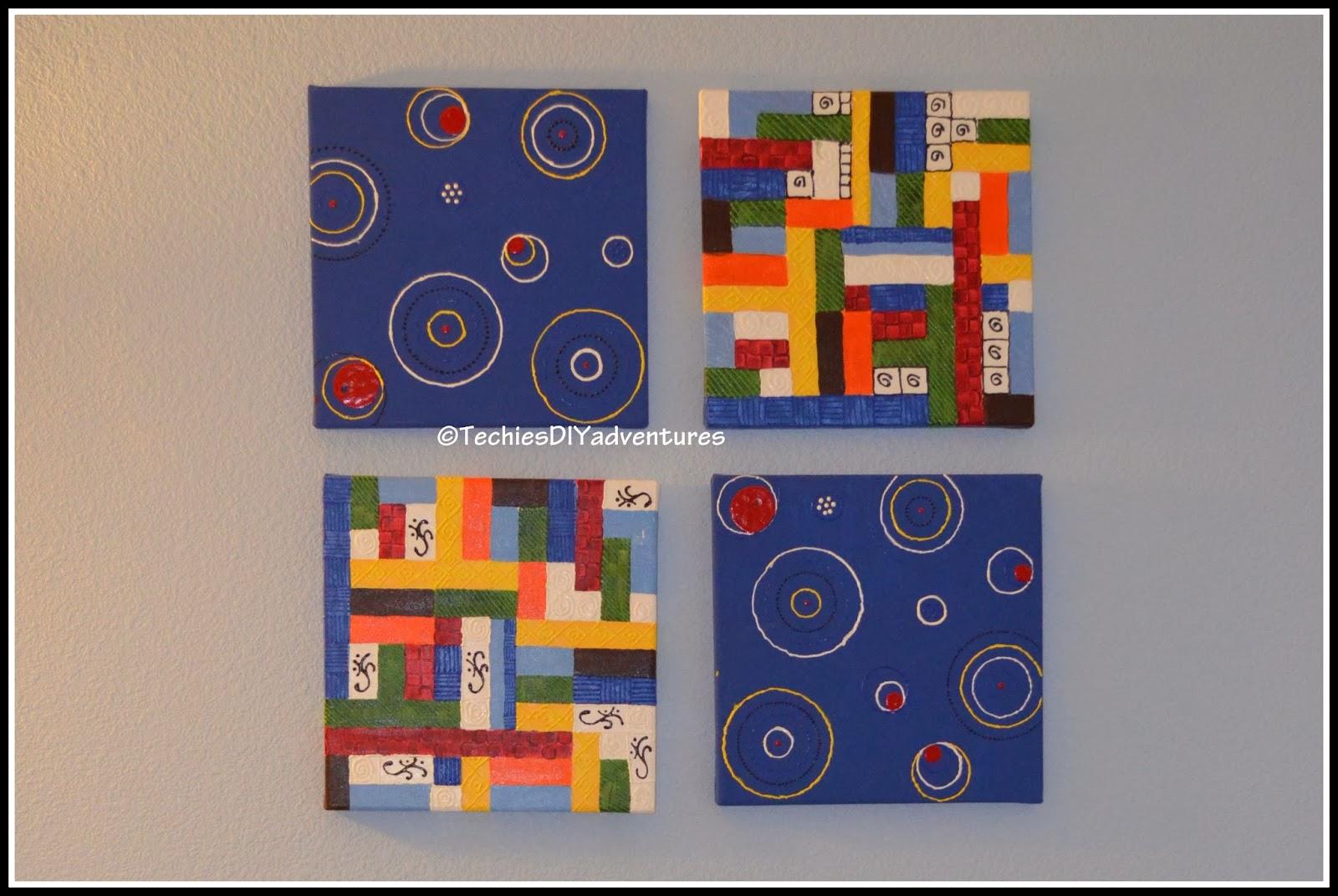 Geometric shape Painted Canvas