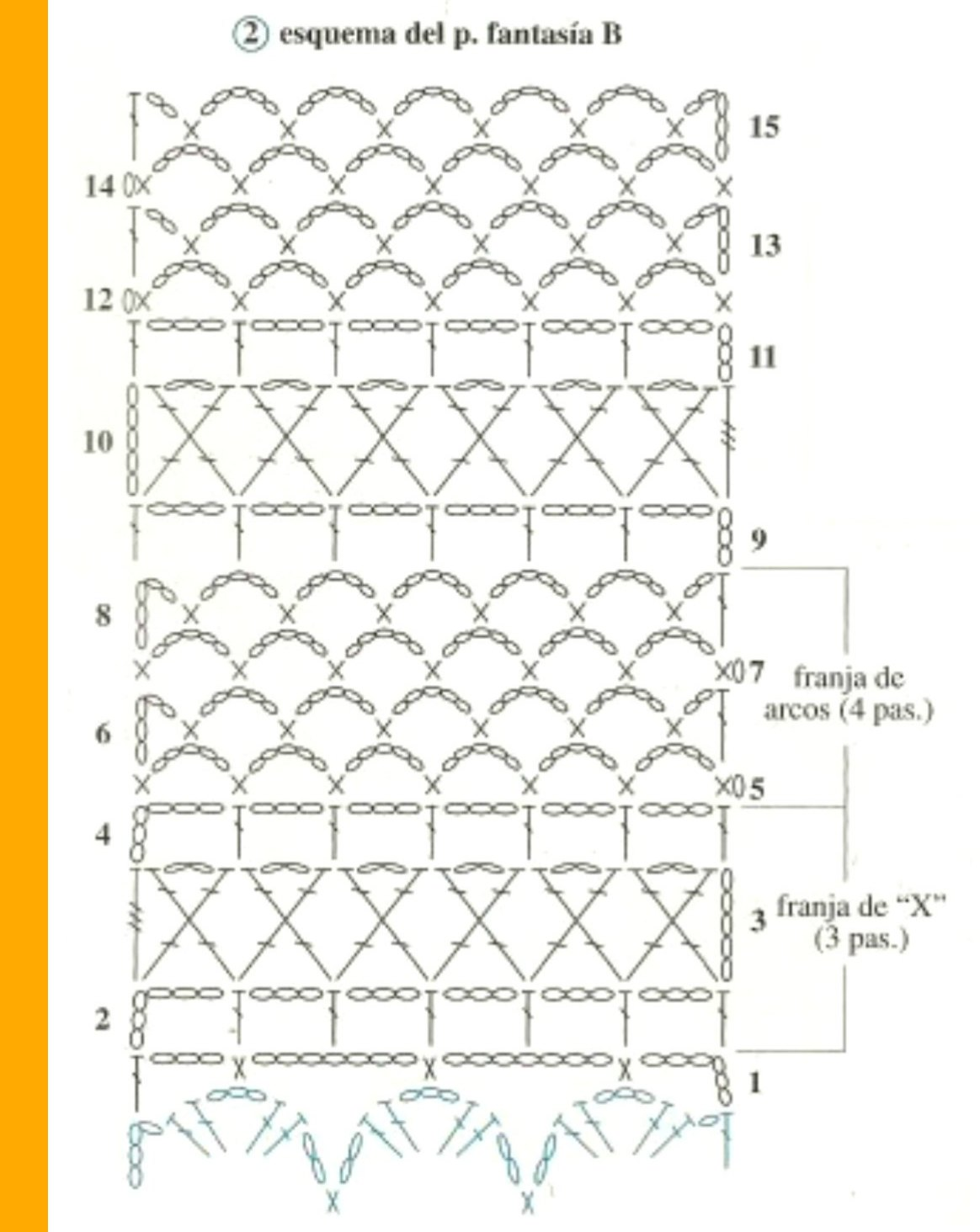 Jersey-top manga corta de conchas y arcos a ganchillo