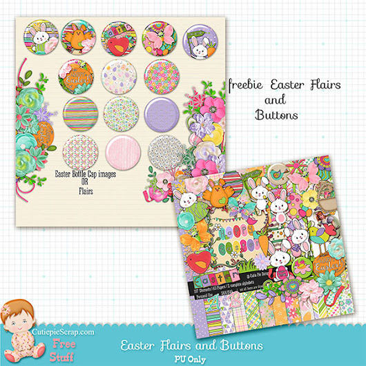 Free Easter Flairs and Buttons