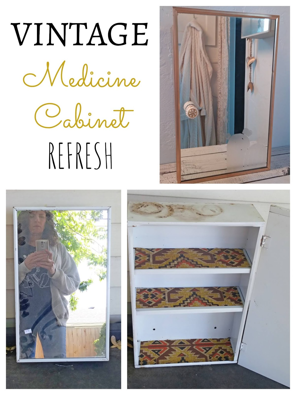 How to makeover a vintage medicine cabinet