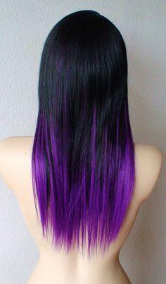 Peachy Black Amp Purple Hairstyles A Gorgeous Combination Short Hairstyles Gunalazisus