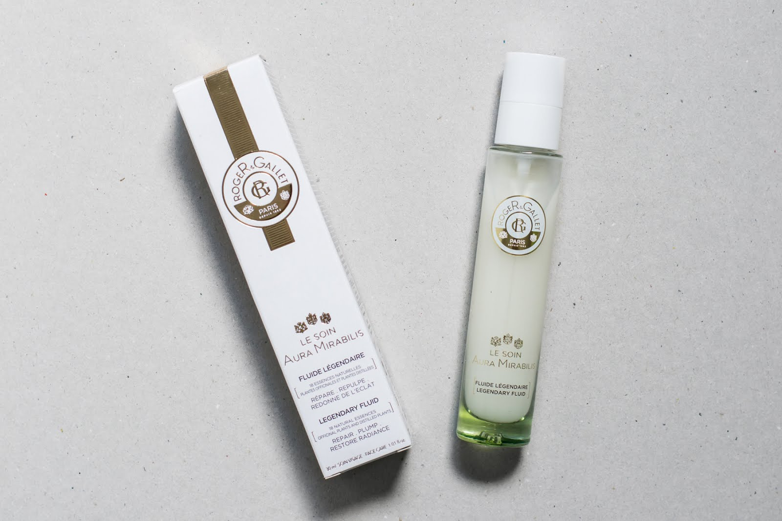 Roger & gallet, le soin aura mirabilis, legendary fluid, beauty vinegar, tonic, new pharma