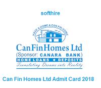 Can Fin Homes Ltd Admit Card