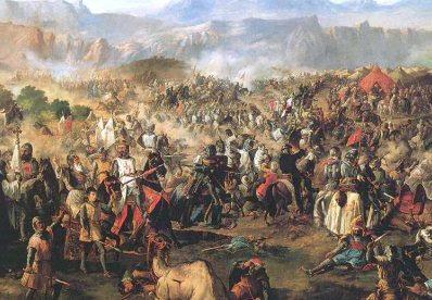 'Batalla de las Navas de Tolosa' by Francisco de Paula Van Halen, 1864