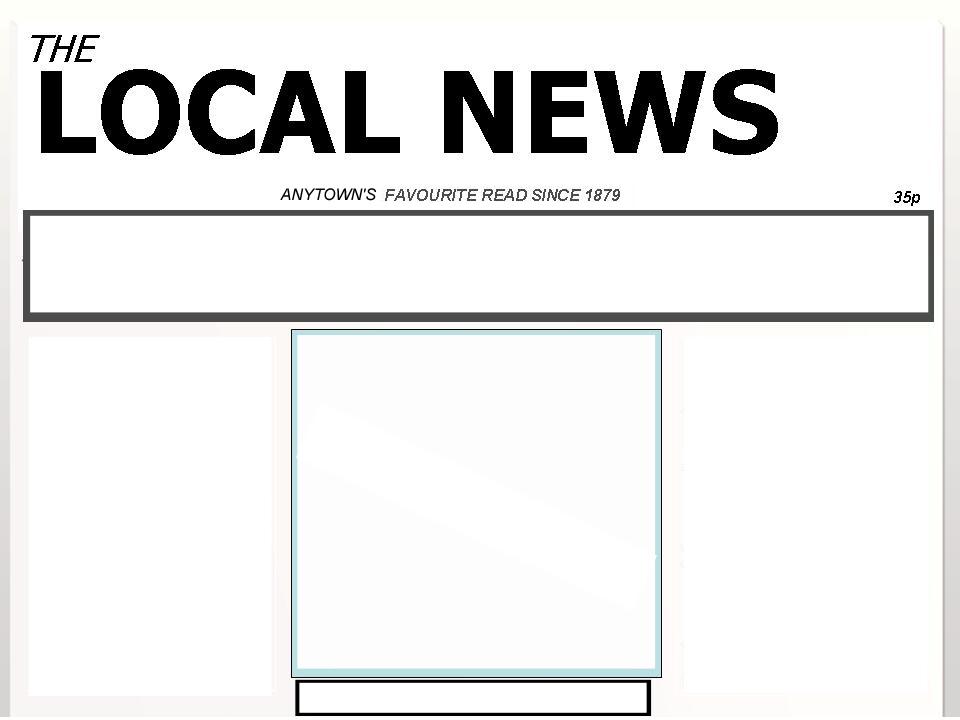 Blank Old Newspaper Template On a newspaper headline.