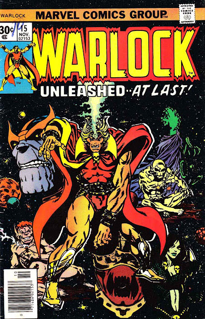 Warlock v1 #15 marvel 1970s bronze age comic book cover art by Jim Starlin