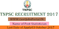 Tamil Nadu Public Service Commission Recruitment 2017– 31 Statistician