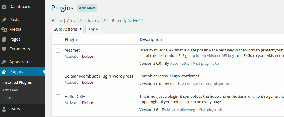 Belajar Membuat Plugin di Wordpress