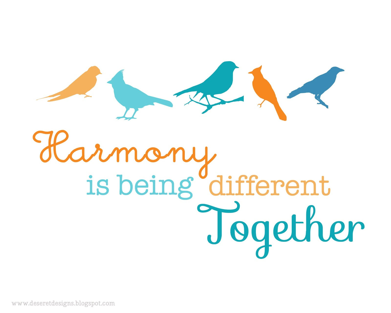 Deseret Designs Harmony Is Being Different Together
