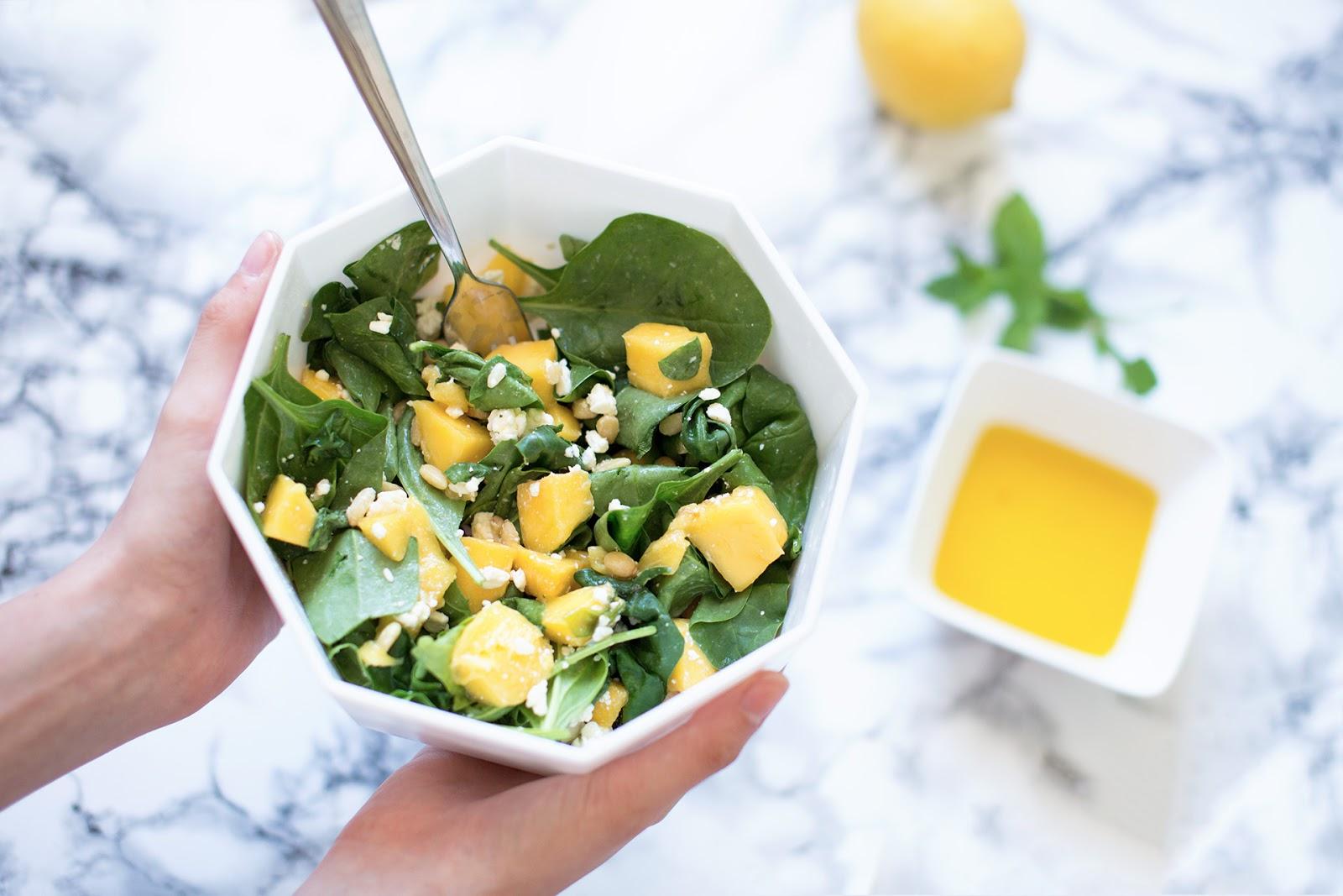Leichte Sommerküche : Inlovewith: leichte sommerküche: mango spinat salat mit zitronen