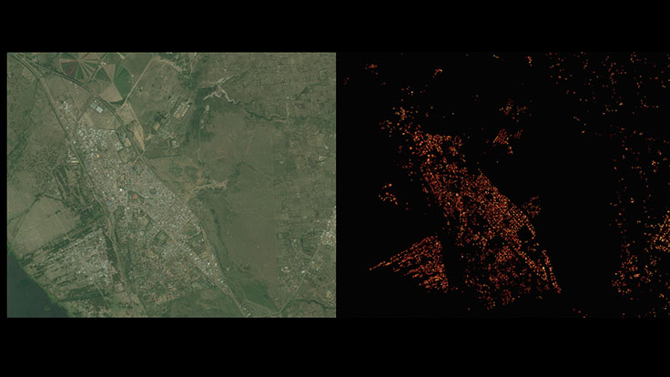 Facebook satellite image analysis in Kenya