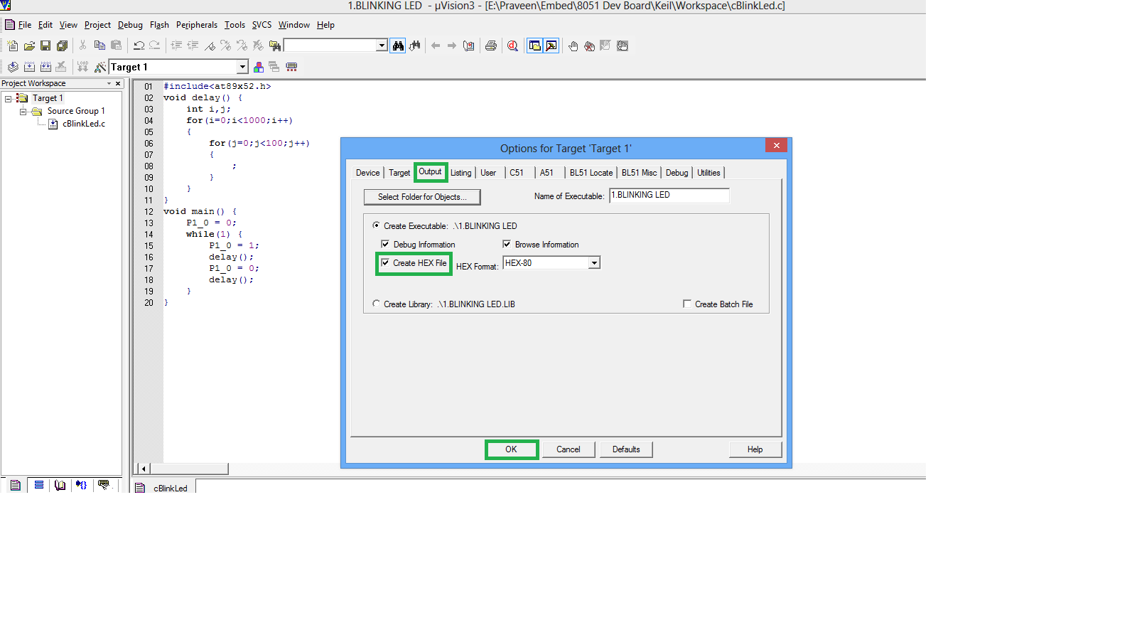 How to use Keil uVision 3 IDE | Embedded C